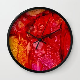 Red Cliff Boulders Wall Clock