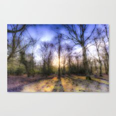 The Early Morning Pastel Forest Canvas Print