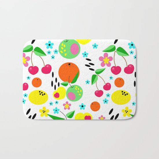 Fruity summer . Bath Mat