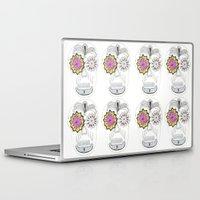 sugar skull Laptop & iPad Skins featuring Sugar Skull by Rachel M Turtle
