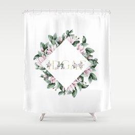 IDGAF pink flowers Shower Curtain