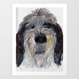 Hairy Dog Art Print