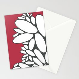 Pebbles on Red  Stationery Cards