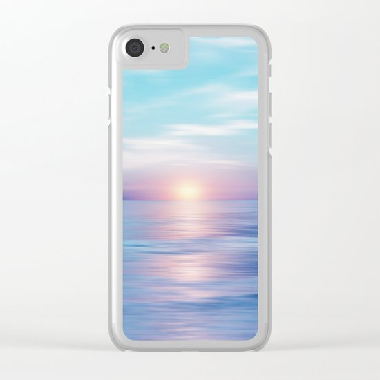 Pastel vibes 45 Clear iPhone Case