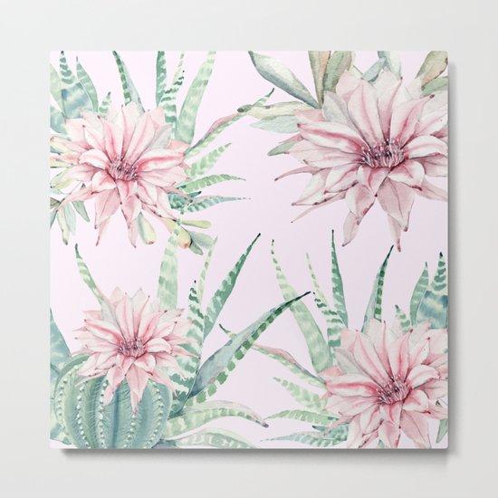 Cactus Pattern 2 Pink #society6 #buyart Metal Print