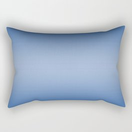 Blue to Pastel Blue Horizontal Bilinear Gradient Rectangular Pillow