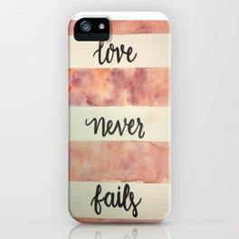 LoveNeverFails iPhone Case