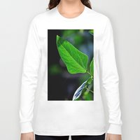 leaf Long Sleeve T-shirts featuring leaf by  Agostino Lo Coco