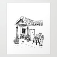 cabin Art Prints featuring Cabin by Mrs. Ciccoricco