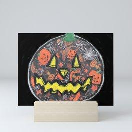 Cute Little Jack O Lantern Mini Art Print