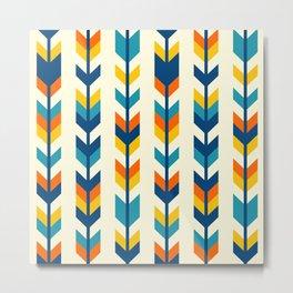 Colorful bohemian aztec arrows rows pattern Metal Print