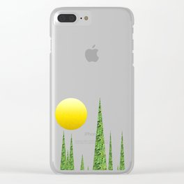 Evergreen Landscape Clear iPhone Case