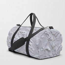White Rough Plastering Texture Duffle Bag