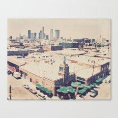 Urth Caffe. Los Angeles skyline photograph Canvas Print