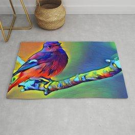 Purple Bird Rug