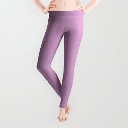 orchid color coordinate solid Leggings