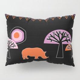 African Rhino Pillow Sham