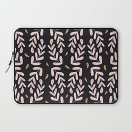 Abstract pink and gold leaves Laptop Sleeve