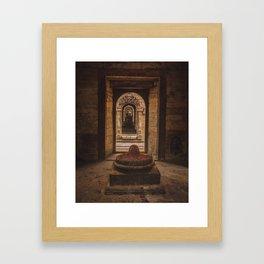 Exploring Pashupatinath Temple in Kathmandu City, Nepal Framed Art Print