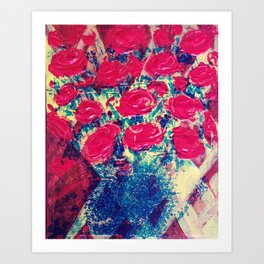 Pop Rose Art Print