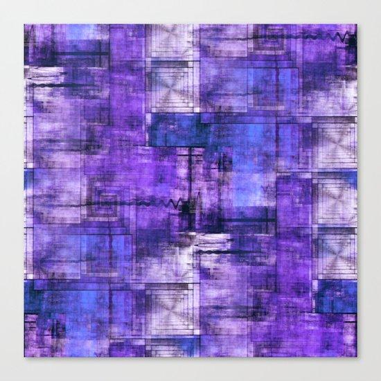 Purple Noise Canvas Print