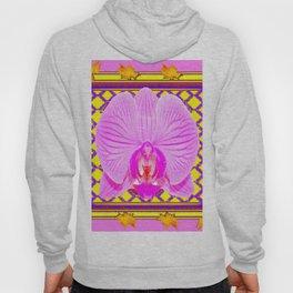 Pink & Fuchsia Purple Art  Orchid Art Themed Design Hoody