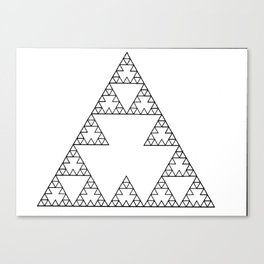Fractal 5 x 5 Triangle with one layer. Second Iteration. Canvas Print