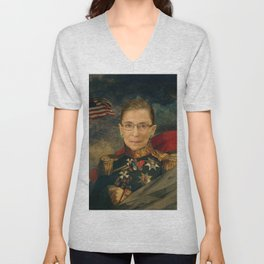 Justice Ruth Bader Ginsburg Classical Regal General Painting Unisex V-Neck