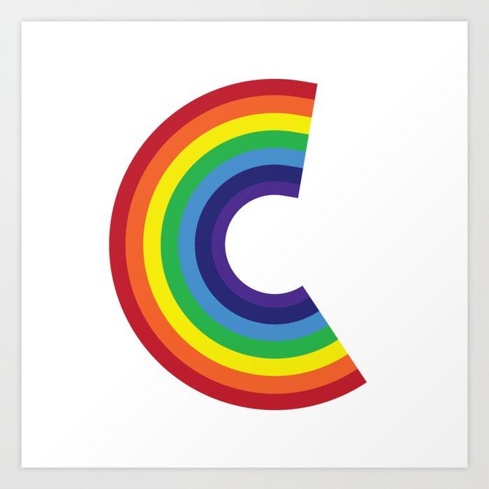 Rainbow Monogram
