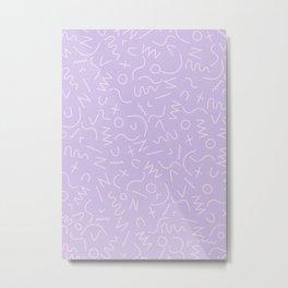 Scribbles on Lavender Metal Print