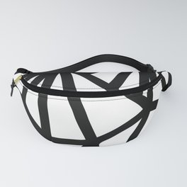 Modern Black and White geometric pattern #abstractart #decor Fanny Pack