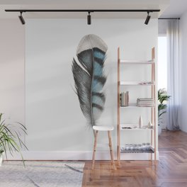 Feather Blue Jay Watercolour Painting Wall Mural