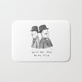 Laurel & Hardy Bath Mat