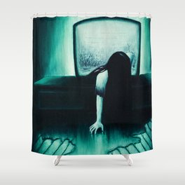 She Never Sleeps Shower Curtain
