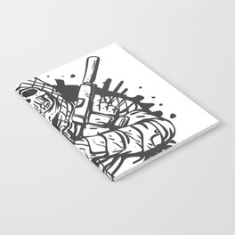 Military skull with guns Notebook
