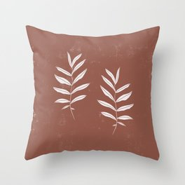 Abstract Leave Pattern Throw Pillow