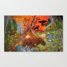 The Fire Cycle Canvas Print