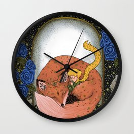 The little prince - Red Version Wall Clock