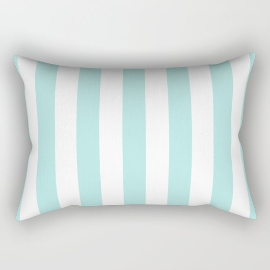 Aqua Stripes vertical- Beautiful maritime pattern Rectangular Pillow