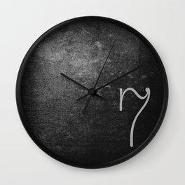 NUMBER 7 BLACK Wall Clock