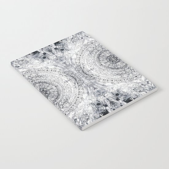 Black&white Mandala - & Grey Blue Notebook