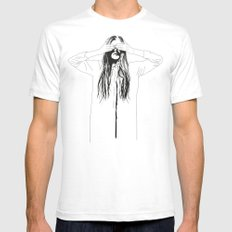 Woman Color 2 White Mens Fitted Tee MEDIUM