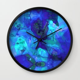 Violet Blue - Abstract Art By Sharon Cummings Wall Clock