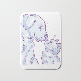 Love cat and dog Bath Mat