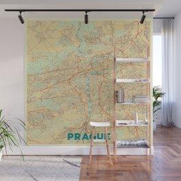 Prague Map Retro Wall Mural