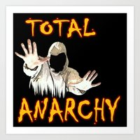 anarchy Art Prints featuring ANARCHY  by Robleedesigns