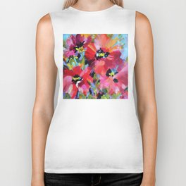 Wildflowers and Poppies Biker Tank