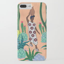 Girl with a jug iPhone Case
