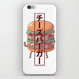 Cheeseburger - Chīzubāgā iPhone Skin
