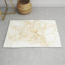 SANTIAGO DE CHILE CITY STREET MAP ART Rug